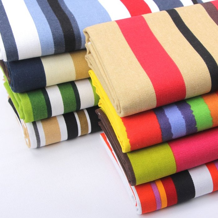 布料 帆布布料純棉加厚老粗布布頭批發清倉條紋碎花布窗簾面料沙發布料