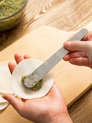 時尚創意 不銹鋼 包餡勺 包水餃勺 包餛飩 挖餡勺 挖餡棒 烘焙工具 紅油抄手 水餃餡挖勺 湯匙