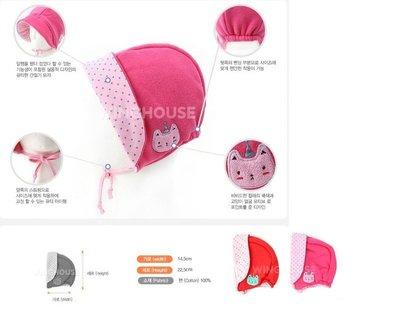 【小糖雜貨舖】韓國進口 公司貨 WINGHOUSE 小貓遮耳帽 WT0039 - 珊瑚紅 / 粉色