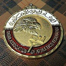 【藏家釋出】早期收藏◎早期稀少的中東阿拉伯世界《卡達 QATER》賽跑競技獎牌 ....