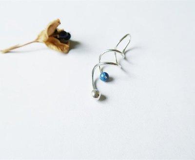 藍晶石 肚臍環 925純銀
