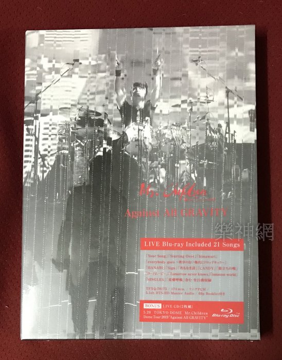 Mr.Children Dome Tour 2019 Against ALL GRAVITY日版藍光Blu-ray+CD