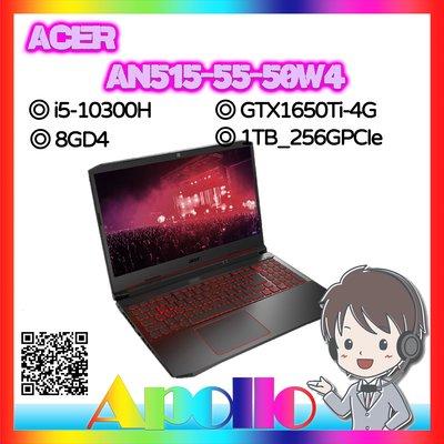 AN515 55 50W4 i5 10300H 8GD4 1TB 256GPCIe GTX1650Ti 4G W10