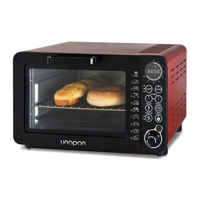 【無敵餐具】UNOPAN系列無油空氣油炸烤箱-紅色(14公升)熱旋風循環調理設計1台2用【SN-13】