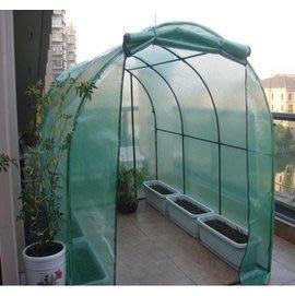 【小型溫室-圓頂-綠色6米雙門-600...