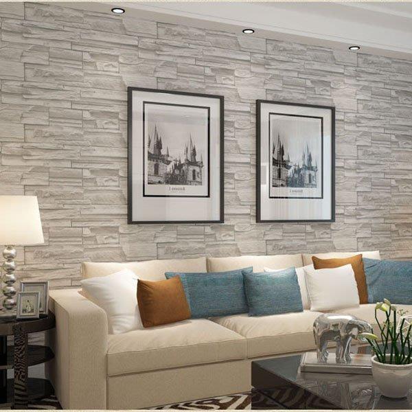 5Cgo【宅神】含稅會員有優惠520609790459 復古磚塊3D立體文化石磚紋壁紙酒店茶樓飯店服裝牆紙電視背景牆花