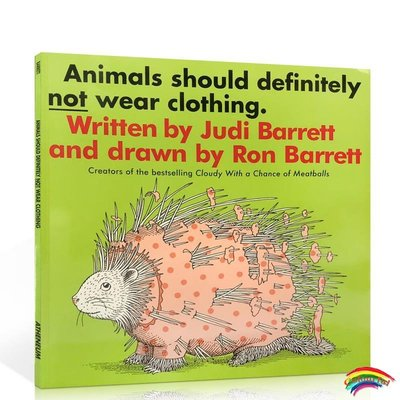 英文原版繪本 Animals Should Definitely Not Wear Clothing 動物不穿衣服 吳敏蘭書單張湘君推薦兒童啟蒙類故事書閱讀培養
