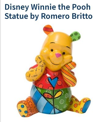 "Discontinued Resin Statue Disney Winnie the Pooh by Romero Britto 2014【7"" H】"