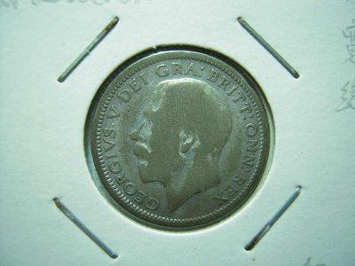 英國.6 Pence.1925年.銀幣
