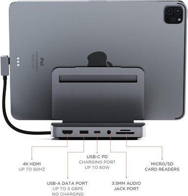公司貨美國Satechi Stand & Hub 多充器支撐架 6-in-1 USB-C iPad Pro Air