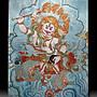 【 金王記拍寶網 】S877 中國西藏藏密佛像刺繡唐卡 黃財神 刺繡 (大)一張 完美罕見~