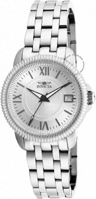 展示品 Invicta 18069 Dynasty Date Roman Numerals Silver tone Bracelet Womens W