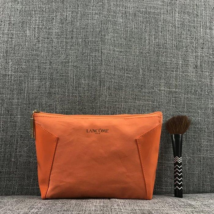 創意 便攜 大容量Lancome/蘭蔻新款拼接個性化妝包大容量收納包 手拿包拉鏈洗漱包
