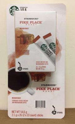 【佩佩的店】COSTCO 好市多 STARBUCKS 星巴克 PIKE 派克市場即溶研磨咖啡 2.1g×26包 新莊面交