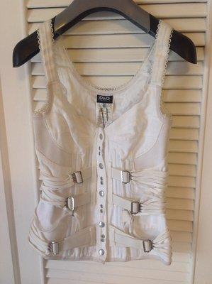 走秀款 Dolce & Gabbana 白色手工馬甲