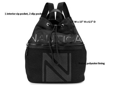 [美國精品屋] 美國品牌 NAUTICA 黑色肩背包