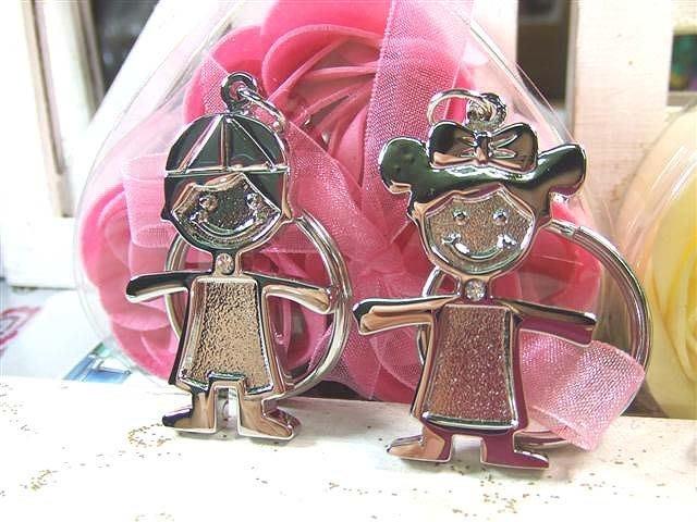 ☆創意小物店☆情侶鑰匙扣(金童玉女) 鑰匙圈/創意可愛金屬鑰匙圈 時尚造型個性飾品