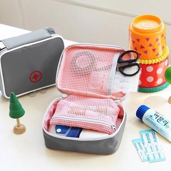 Color_me【Y011】立體式多夾層藥包 藥盒 藥丸收納 分類 收納包 出國旅遊 隨身藥包 雜物包 購物袋 包包