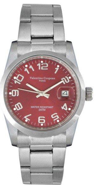 (六四三精品)Valentino coupeau(真品)(全不銹鋼)精準男錶(附保証卡)12168SM-20