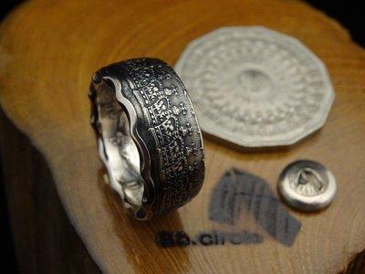 ao.circle 奢扣{原創} 澳洲 澳大利亞 1977年 女王登基 25週年 50 CENTS 紀念 手工戒指 幣戒