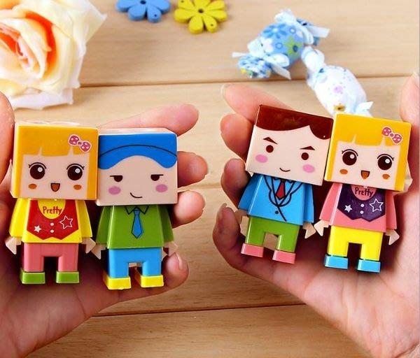 韓版文具 可愛小人物 橡皮擦 雙孔 削鉛筆組up不挑款N