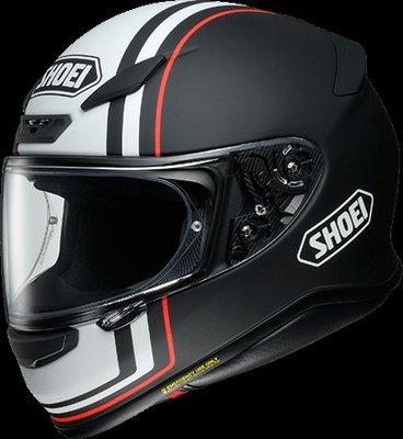 《鼎鴻》 SHOEI全罩式花色安全帽 Z-7 RECOUNTER TC-5 黑/白 消光色