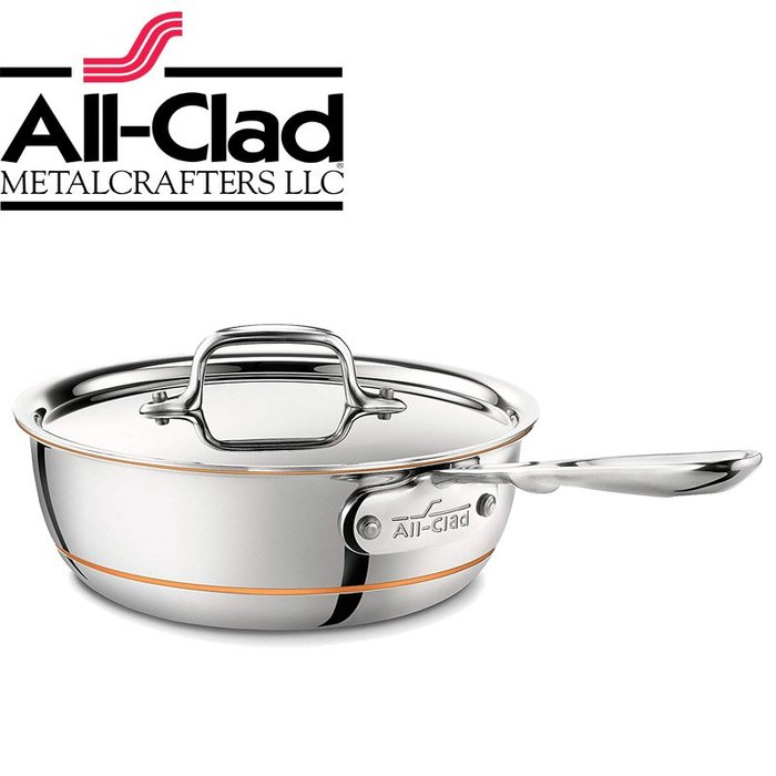 美國All-Clad Copper Core  不銹鋼鍋 22cm 單柄 醬汁鍋 湯鍋 燉鍋 平底鍋 寬底
