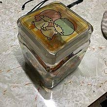 双子星透明玻璃瓶連英文字母珠仔