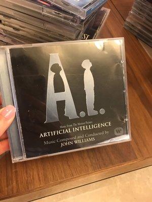 9成新 A.I.  人工智慧 電影原聲帶 Artificial Intelligence 約翰威廉斯作曲指揮 John Williams