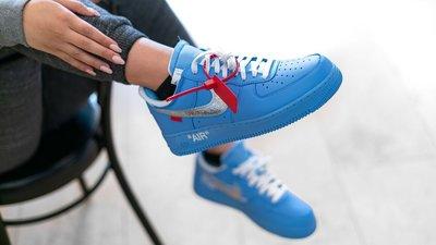 "OFF-WHITE x Air Force 1 ""MCA"" 藍色 休閒運動 滑板鞋 CI1173-400 男女鞋"