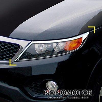 2013 KIA 新 SORE新NTO 專用改裝電新鍍大燈罩尾燈罩裝飾亮條韓國進口汽車內飾改裝飾品