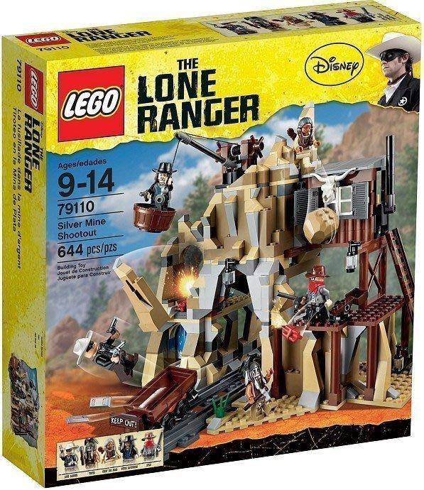 絕版品【LEGO 樂高】100% 全新正品 積木/ 電影主題系列 獨行俠 銀礦坑槍戰 79110【9~14歲】344片