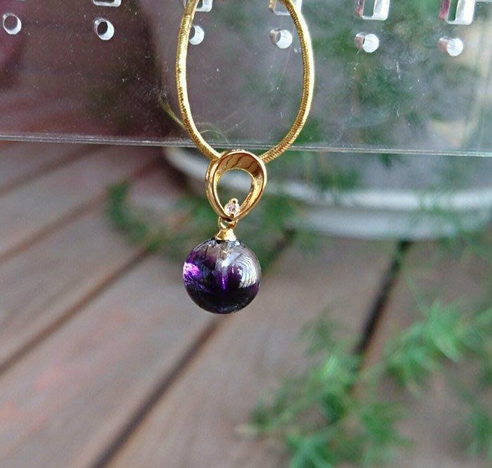 ~水晶花園~ 骨幹紫水晶墜子(不含鍊子) 骨幹水晶含有七種以上礦物,有助於人體七脈輪的能量