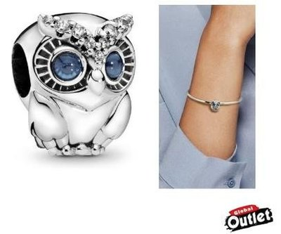 【全球購.COM】PANDORA 潘朵拉 鑲鑽新款璀璨貓頭鷹串珠 925純銀 美國正品代購