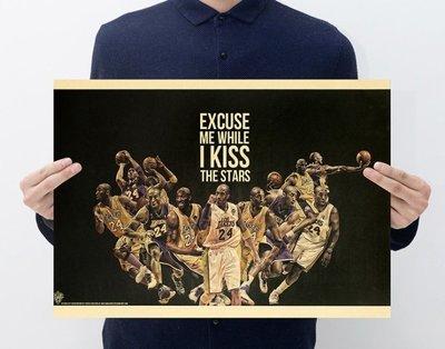 【貼貼屋】NBA Kobe Bryant 柯比·布萊恩 小飛俠 湖人隊 籃球 懷舊復古 牛皮紙 海報 壁貼 447