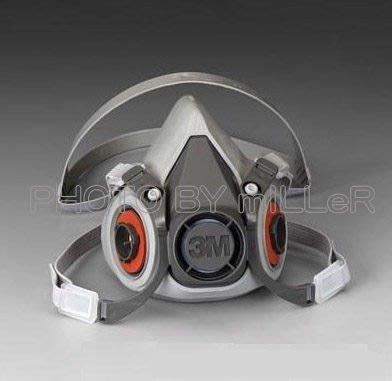 【米勒線上購物】防毒面具 3M 6200 半面罩防毒面具 搭6006 濾毒罐一對