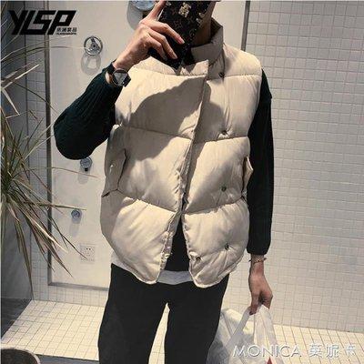 情侶裝棉馬甲男秋冬季韓版潮無袖外套男女加厚寬鬆立領棉坎肩背心