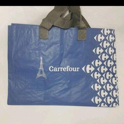 請勿下標 (全新,6個600) 家樂福Carrefour 購物袋 (藍)