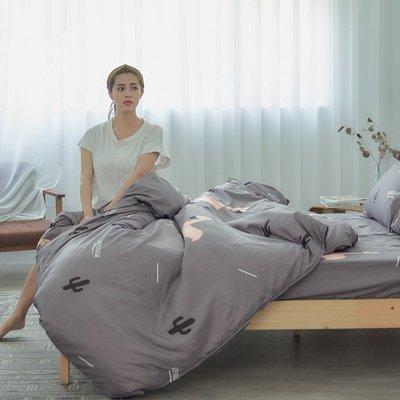 [SN]#U101#細磨毛天絲絨5x6.2尺標準雙人舖棉兩用被床包四件組-台灣製(限單件超取)