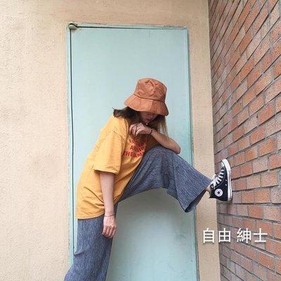 哆啦本鋪 帽子春夏日系漁夫帽男女原宿休閒素面盆帽潮 D655
