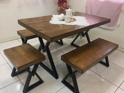 ~誠萍~工業風 loft 卡瑞拉餐桌 ...