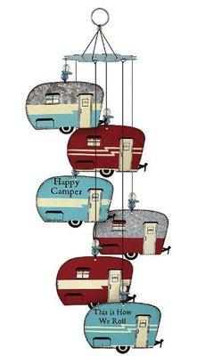 12471c 歐洲製造 好品質 限量品 歐式露營車拖車汽車 吊飾墜民宿門掛鈴擺飾品擺件風鈴掛飾牆壁上室內外掛鈴禮品