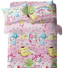 Sanrio 天絲綿活性印花1300針床品套裝 粉紅色款