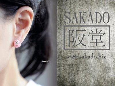 阪堂SAKADO熱縮水晶手工耳釘--爆發粉紅少女心 泡泡先生