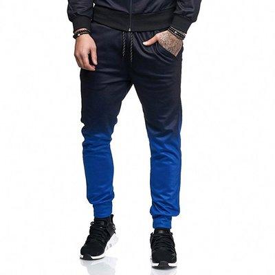新款外貿速賣通ebay青年男士休閒運動長褲 歐美風漸變健身褲秋褲