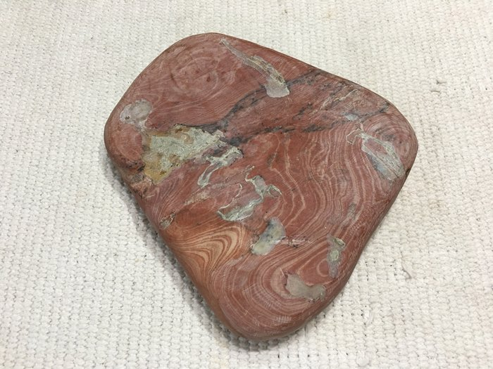 藏雅軒-早期老件收藏-珍品-天然原礦隨形硯田-紅絲硯