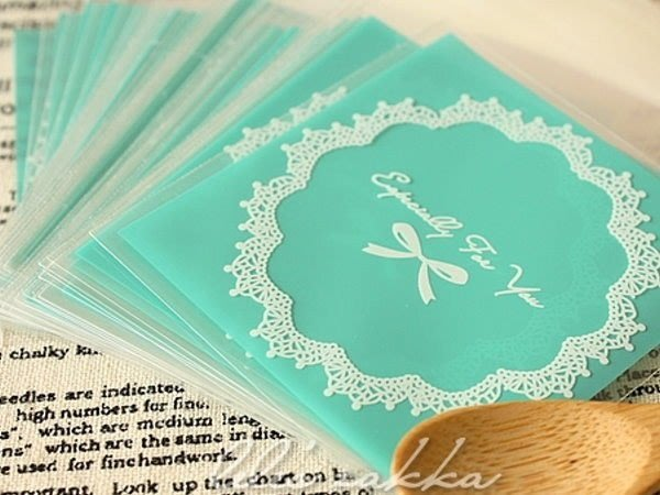 AM好時光【F54】Tiffany 蕾絲蝴蝶結 OPP 自黏 透明包裝袋❤婚禮小物 棉花糖 飾品 西點 餅乾 手工皂 盒