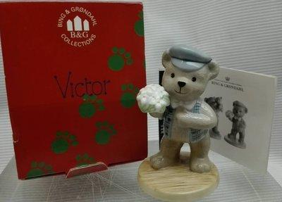 瓷器!不玩了!哥本哈根 (Royal Copenhagen )絕版 2000年 VICTOR 年度泰迪熊雕像