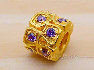 如玉坊珠寶   硬金雙排紫水晶串珠  黃金串珠  AG&