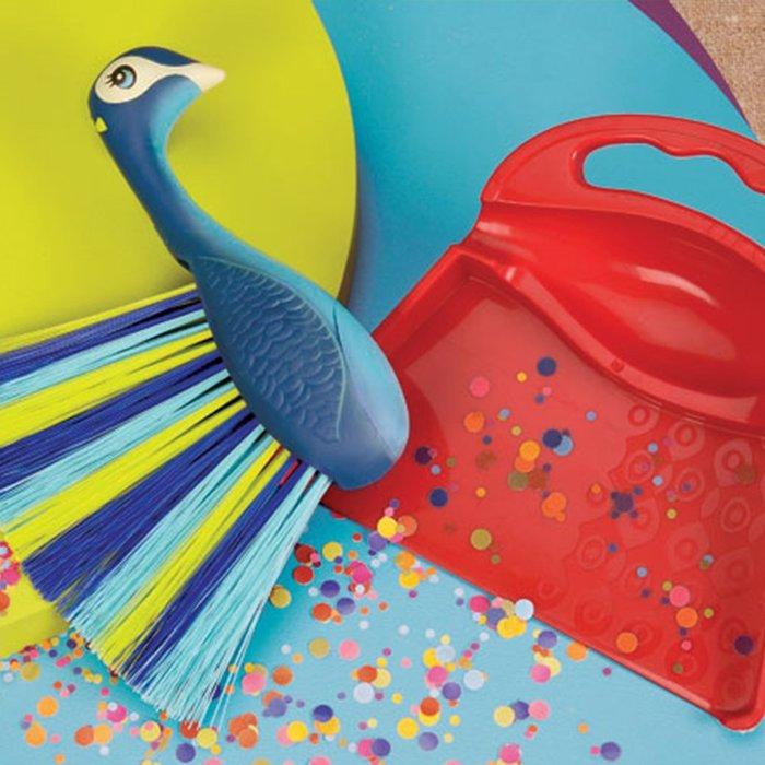 美國B.toys熱帶小動物清潔套裝 早教益智仿真小掃把過家家玩具